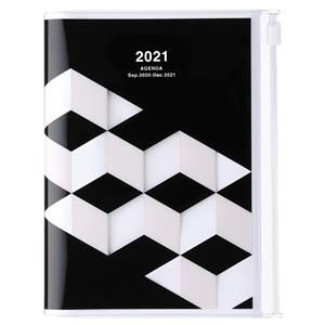 AGENDA MARK'S 2021 A6 GEOMETRIC BLACK