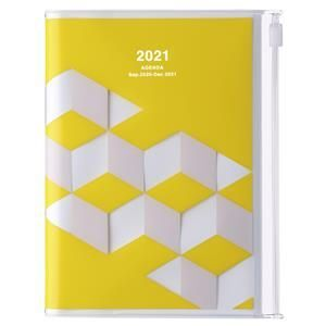 AGENDA MARK'S 2021 A6 GEOMETRIC YELLOW