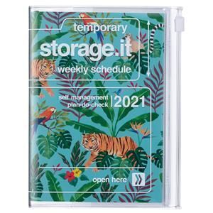 AGENDA MARK'S 2021 A6 JUNGLE TURQUOISE
