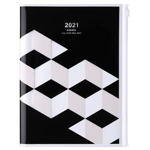 AGENDA MARK'S 2021 A5 GEOMETRIC BLACK