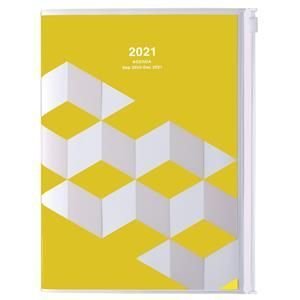AGENDA MARK'S 2021 A5 GEOMETRIC YELLOW