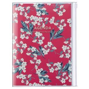 AGENDA MARK'S 2021 A5 FLOWER RED
