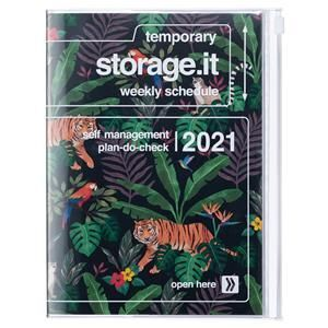 AGENDA MARK'S 2021 A5 JUNGLE BLACK