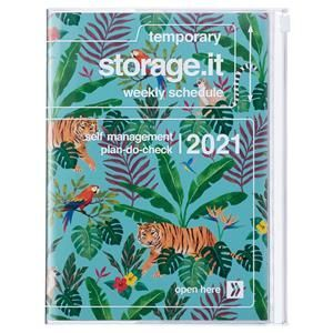 AGENDA MARK'S 2021 A5 JUNGLE TURQUOISE