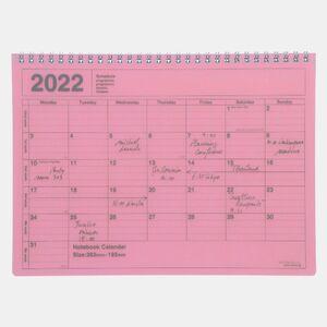 NOTEBOOK CALENDAR 2022 M/PINK