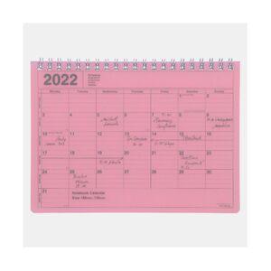 NOTEBOOK CALENDAR 2022 S/ PINK