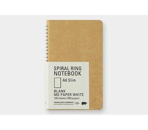 TRC SPIRAL RING NOTEBOOK A6 SLIM MD WHITE