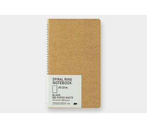 TRC SPIRAL RING NOTEBOOK A5 SLIM MD WHITE