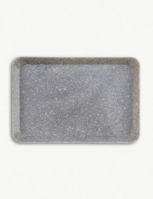 MARBLED DESK TRAY S GREY