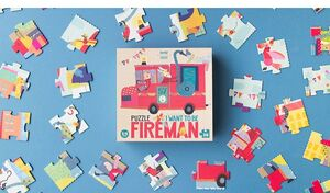 PUZZLE I WANT TO BE FIREMAN (36 PCS)