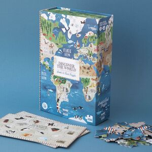 DISCOVER THE WORLD PUZZLE + JOC