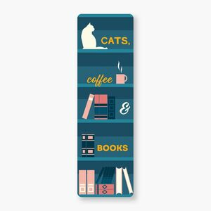 MARCAPÁGINAS - CATS, COFFEE & BOOKS