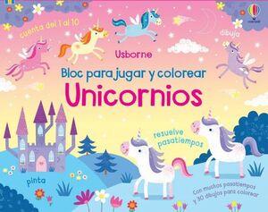 UNICORNIOS BLOC PARA JUGAR Y COLOREAR
