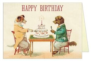 POSTAL HAPPY BIRTHDAY DOGS