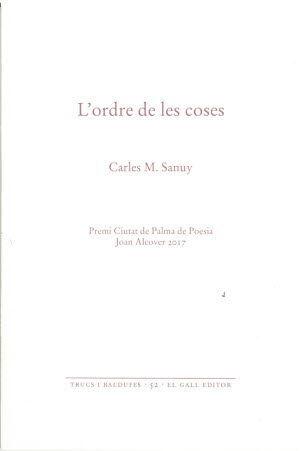 ORDRE DE LES COSES (PREMI CIUTAT DE PALMA POESIA J