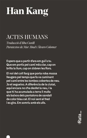 ACTES HUMANS