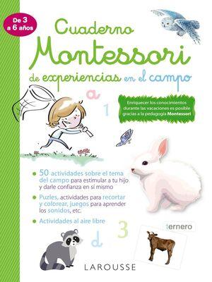 CUADERNO MONTESORI DE EXPERIENCIAS EN EL CAMPO