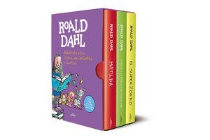 ROALD DAHL (EDICIÓN ESTUCHE CON: MATILDA  CHARLIE Y LA FÁBRICA DE CHOCOLATE  E