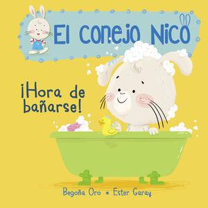 CONEJO NICO. HORA DE BAÑARSE (CARTON)