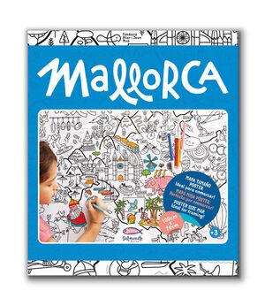 MALLORCA MAPA COLOREAR