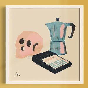 PRINT · SARA MARCOS · BODEGÓN CAFETERA