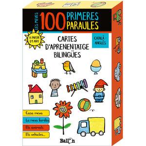 LES MEVES 100 PRIMERES PARAULES - CARTES D'APRENENTATGE BILINGÜES