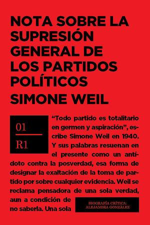 NOTA SOBRE SUPRESION GENERAL PARTIDOS POLITICOS
