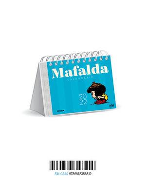 MAFALDA 2022, CALENDARIO DE ESCRITORIO AZUL CLARO
